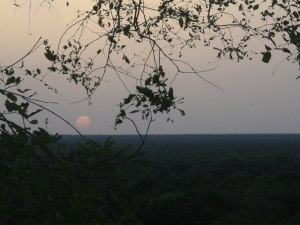 Sunset over Mole National Park - Sookyung Shutoff, World Endeavors Ghana Youth Soccer Coaching Volunteer, June 2008