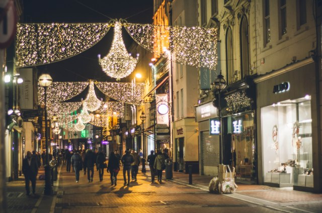 Christmas Lights on Grafton Street / Photo: Zak Milofsky